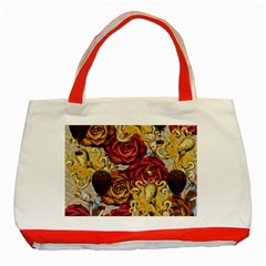 Octopus Floral Classic Tote Bag (red)