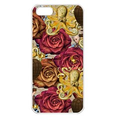 Octopus Floral Apple Iphone 5 Seamless Case (white)