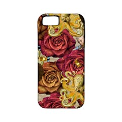 Octopus Floral Apple Iphone 5 Classic Hardshell Case (pc+silicone)