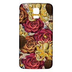 Octopus Floral Samsung Galaxy S5 Back Case (white)