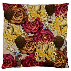 Octopus Floral Large Flano Cushion Case (one Side)