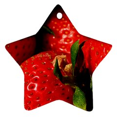 Red Strawberries Ornament (star)
