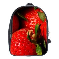 Red Strawberries School Bag (large)
