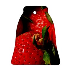 Red Strawberries Bell Ornament (two Sides)
