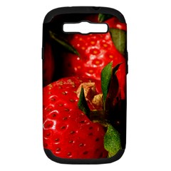 Red Strawberries Samsung Galaxy S Iii Hardshell Case (pc+silicone)
