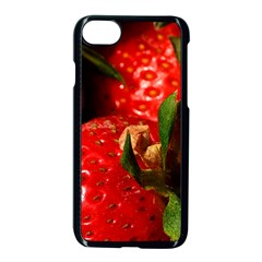 Red Strawberries Apple Iphone 8 Seamless Case (black)
