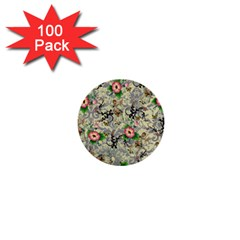 Angel Floral 1  Mini Buttons (100 Pack)