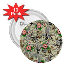 Angel Floral 2 25  Buttons (10 Pack)