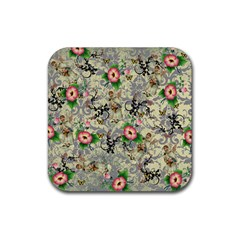 Angel Floral Rubber Coaster (square)