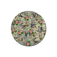 Angel Floral Rubber Coaster (round)