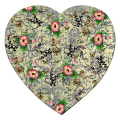 Angel Floral Jigsaw Puzzle (heart)