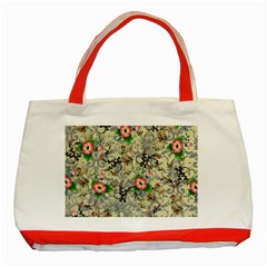 Angel Floral Classic Tote Bag (red)