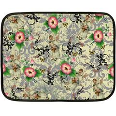 Angel Floral Double Sided Fleece Blanket (mini)
