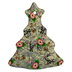 Angel Floral Christmas Tree Ornament (two Sides)