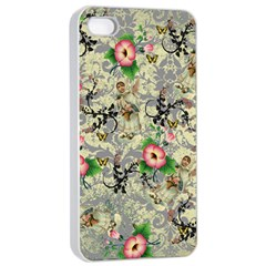 Angel Floral Apple Iphone 4/4s Seamless Case (white)
