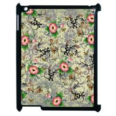 Angel Floral Apple Ipad 2 Case (black)