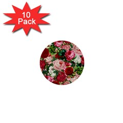 Rose Bushes 1  Mini Buttons (10 Pack)