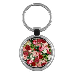 Rose Bushes Key Chains (round)