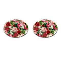 Rose Bushes Cufflinks (oval)