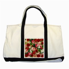 Rose Bushes Two Tone Tote Bag