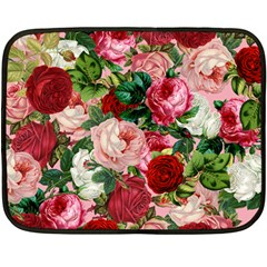 Rose Bushes Double Sided Fleece Blanket (mini)