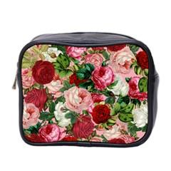 Rose Bushes Mini Toiletries Bag 2 Side