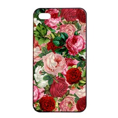 Rose Bushes Apple Iphone 4/4s Seamless Case (black)