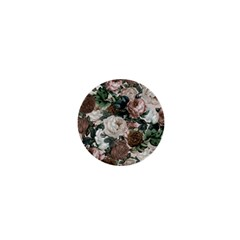 Rose Bushes Brown 1  Mini Buttons
