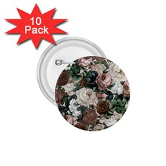 Rose Bushes Brown 1 75  Buttons (10 Pack)