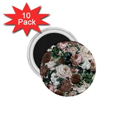 Rose Bushes Brown 1 75  Magnets (10 Pack)