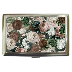 Rose Bushes Brown Cigarette Money Cases
