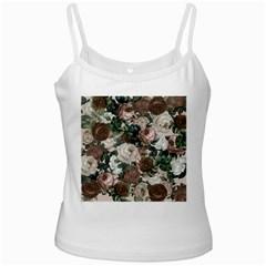 Rose Bushes Brown Ladies Camisoles
