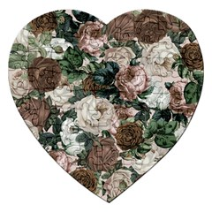 Rose Bushes Brown Jigsaw Puzzle (heart)
