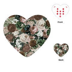Rose Bushes Brown Playing Cards (heart)