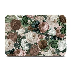 Rose Bushes Brown Plate Mats