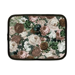 Rose Bushes Brown Netbook Case (small)