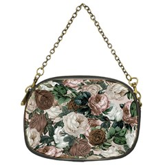 Rose Bushes Brown Chain Purses (one Side)