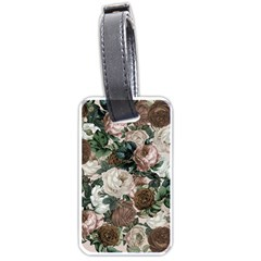 Rose Bushes Brown Luggage Tags (two Sides)