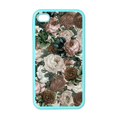 Rose Bushes Brown Apple Iphone 4 Case (color)