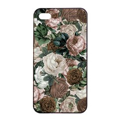 Rose Bushes Brown Apple Iphone 4/4s Seamless Case (black)