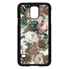 Rose Bushes Brown Samsung Galaxy S5 Case (black)