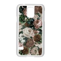 Rose Bushes Brown Samsung Galaxy S5 Case (white)