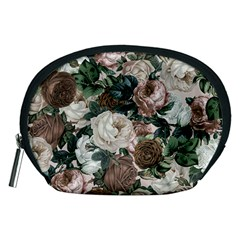Rose Bushes Brown Accessory Pouches (medium)