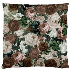 Rose Bushes Brown Standard Flano Cushion Case (one Side)