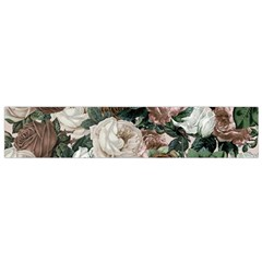 Rose Bushes Brown Small Flano Scarf