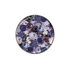 Rose Bushes Blue Hat Clip Ball Marker (4 Pack)