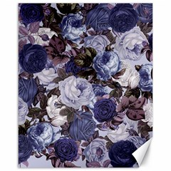Rose Bushes Blue Canvas 16  X 20