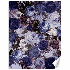 Rose Bushes Blue Canvas 18  X 24