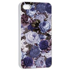 Rose Bushes Blue Apple Iphone 4/4s Seamless Case (white)