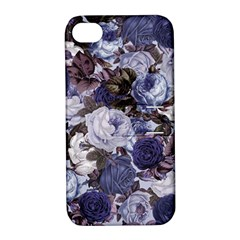 Rose Bushes Blue Apple Iphone 4/4s Hardshell Case With Stand